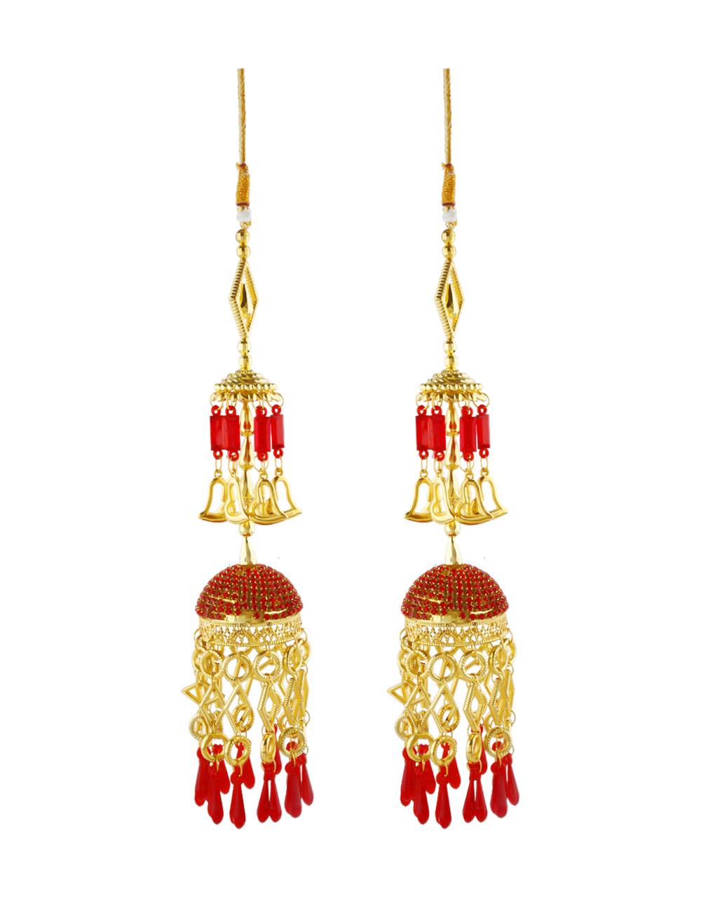 Red Colour Fancy Gold Finish Stunning Bangles Kalire
