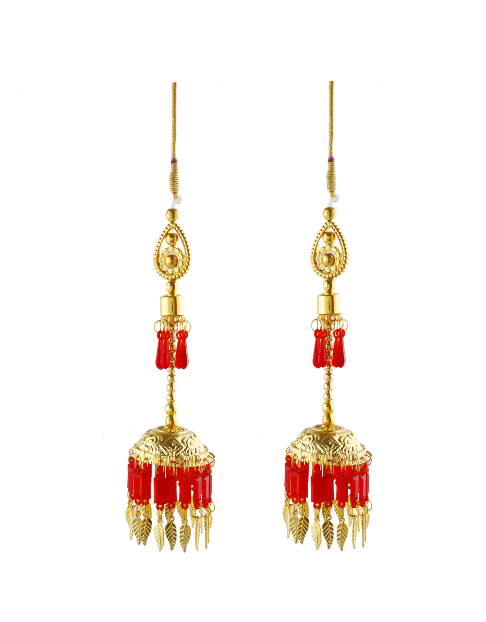 Fancy Red Colour Suhag Kalire For Bride Wedding Jewellery