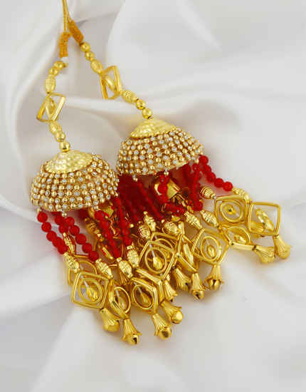 Fancy Wear Red Colour Punjabi Wedding Kaleere