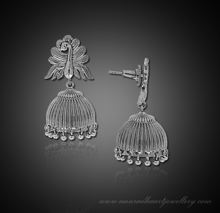 Silver Oxide Jhumkis