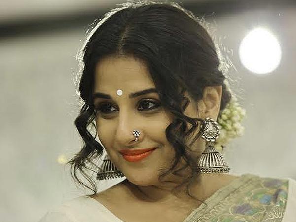 Vidya balan wearing oxidized nose pin