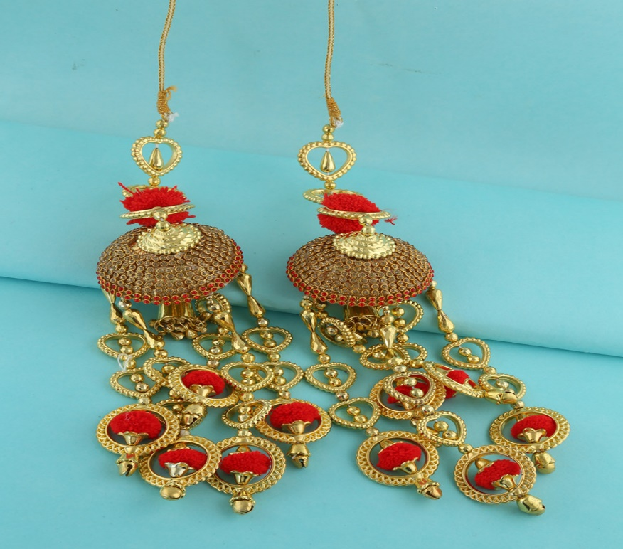 Latest red and golden Bridal Kaleere by Anuradha Arts