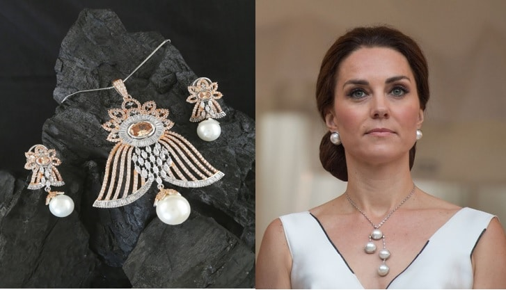Pearl Pendant Set for Cocktail Evenings or Work Events
